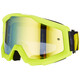100% Strata Goggle neon yellow-mirror